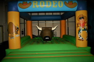 "8 / Structure gonflable ""RODEO A CORDES"""